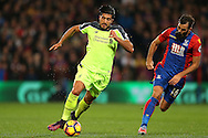 Emre Can of Liverpool breaks away from Joe Ledley of Crystal Palace.  Premier League match, Crystal Palace v Liverpool at Selhurst Park in London on Saturday 29th October 2016.<br /> pic by John Patrick Fletcher, Andrew Orchard sports photography.