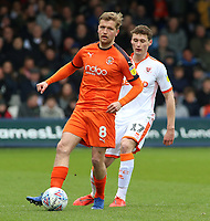 Luton Town's Luke Berry gets away from Blackpool's Matty Virtue<br /> <br /> Photographer David Shipman/CameraSport<br /> <br /> The EFL Sky Bet League One - Luton Town v Blackpool - Saturday 6th April 2019 - Kenilworth Road - Luton<br /> <br /> World Copyright © 2019 CameraSport. All rights reserved. 43 Linden Ave. Countesthorpe. Leicester. England. LE8 5PG - Tel: +44 (0) 116 277 4147 - admin@camerasport.com - www.camerasport.com
