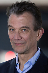 London, UK. 16th November, 2018.  John Rentoul, Chief Political Commentator for The Independent, is interviewed on College Green in Westminster as uncertainty continues around the survival of Prime Minister Theresa May's Government and the number of letters of no confidence submitted to the 1922 Committee.