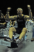 Birmingham, GREAT BRITAIN, men's 35-39 HWT,  Nik FLEMING,  celebrates winning his category, at the British Indoor Rowing Championships, National Indoor Arena, Birmingham, ENGLAND. 12/11/2006, [Photo, Peter Spurrier/Intersport-images]..{Some digital re-touching}.....
