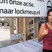 NLD/Zandvoort/20140518 - Lock me Up - Free a Girl  2014, Yolanthe Sneijder - Cabau van Kasbergen