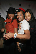 l to r: Raqiah Mays, Johnny Nunez and Keisha Batista at The Jamie Foxx's Album Release Party for Intuition, Sponsored by Vibe Magazine & Patron Tequila held at Home on December 17, 2008 in New York City..