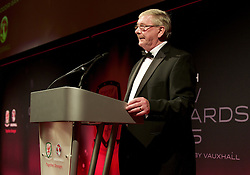 CARDIFF, WALES - Monday, October 5, 2015: FAW President David Griffiths during the FAW Awards Dinner at Cardiff City Hall. (Pic by Ian Cook/Propaganda)