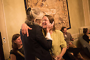 SABINA DUMONT; SARAH LUCAS;  Sarah Lucas- Scream Daddio party hosted by Sadie Coles HQ and Gladstone Gallery at Palazzo Zeno. Venice. 6 May 2015.