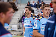 Jake Gordon of the Waratahs reacts after the Round 3 Trans-Tasman Super Rugby match between the NSW Waratahs and the Canterbury Crusaders at WIN Stadium in Wollongong, Saturday, May 29, 2021. (AAP Image/David Neilson) NO ARCHIVING, EDITORIAL USE ONLY