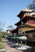 Nine Dynastic Urns in front of Hien Lam pavilion, Hue Citadel / Imperial City, Hue, Vietnam