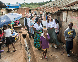 """Crown Princess Mary and minister for development Ulla Toernaes visits Kenya focusing on women's rights. Here they are on a tour of the huge slum area """"Kibera Slum"""". 28 Nov 2018 Pictured: Crown Princess Mary. Photo credit: HAnne Juul/Aller Media/MEGA TheMegaAgency.com +1 888 505 6342"""