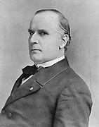 William McKinley (1843-1901) 25th president of USA from 1896. Shot by anarchist Leon Czolgosz at the Pan-American Exhibition in Buffalo, 6 Sept 1901 and died 14 Sept. From 'The Sphere', London, 14 September 1901