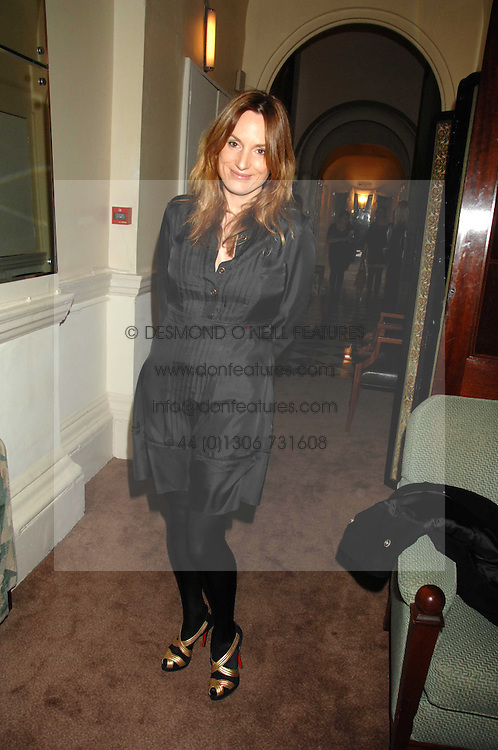 EMILY OPPENHEIMER-TURNER at a party to celebrate the publication of Top Tips For Girls by Kate Reardon held at Claridge's, Brook Street, London on 28th January 2008.<br /><br />NON EXCLUSIVE - WORLD RIGHTS