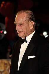 © under license to London News Pictures.  30/11/2010 HRH Prince Philip attends the World Premiere and Royal Film Performance of The Cronicles of Narnia: The Voyage of The Dawn Treader at  Leicester Square, London, 30 November 2010. Picture credit should read: Julie Edwards/London News Pictures