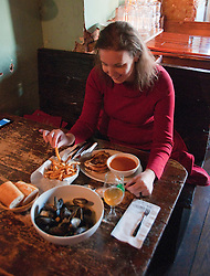 Washington, DC: Food and drink at Granville Moore's restaurant/bar on H Street.  Photo copyright Lee Foster.  Photo #washdc106859.