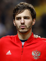 November 20, 2018 - Stockholm, Sweden - Aleksandr Erokhin of Russia looks on during the UEFA Nations League B Group 2 match between Sweden and Russia on November 20, 2018 at Friends Arena in Stockholm, Sweden. (Credit Image: © Mike Kireev/NurPhoto via ZUMA Press)