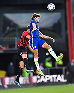 Marcos Alonso (3) of Chelsea <br /> battles for possession with Jack Stacey (17) of AFC Bournemouth during the Pre-Season Friendly match between Bournemouth and Chelsea at the Vitality Stadium, Bournemouth, England on 27 July 2021.