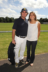 Polo player EDUARDO HEGUY and his wife at the IWC Laureus Polo Cup Day 2008 held at Ham Polo Club, Surrey on 22nd June 2008.<br />