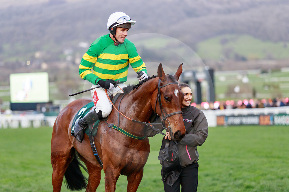 Any Second Now (D. O'Connor) wins The Fulke Walwyn Kim Muir Challenge Cup Amateurs Riders' Handicap Steeple Chase in Cheltenham 14/03/2019, photo: Zuzanna Lupa