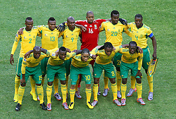 Players of South Africa  during the Group A first round 2010 FIFA World Cup South Africa match between South Africa and Mexico at Soccer City Stadium on June 11, 2010 in Johannesburg, South Africa.  (Photo by Vid Ponikvar / Sportida)