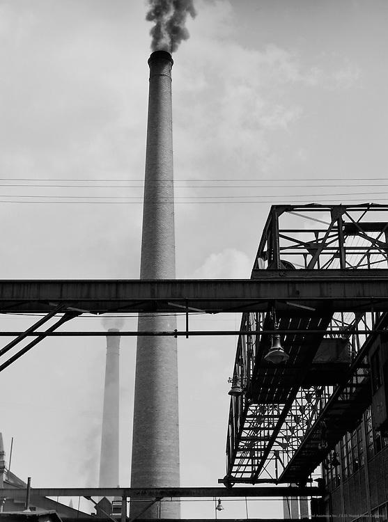 Long Crane, Tall Chimney, Man Maschinenfabrik Augsburg-Nürnberg, Nürnberg, 1928