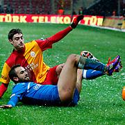 Galatasaray's Albert Riera Ortega (B) during their Turkish Super League soccer match Galatasaray between MP Antalyaspor at the TT Arena Stadium at Seyrantepe in Istanbul Turkey on Saturday 01 February 2012. Photo by TURKPIX