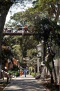 "Barranco. ""Bajada de baños"", famous avenue that connect the center of Barranco with the nearest beaches"
