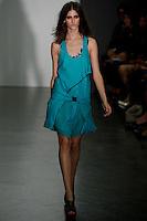 Daiane Conterato wearing Proenza Schoeler Spring 2010 collection during Mercedes-Benz Fashion Week in New York, September 16, 2009