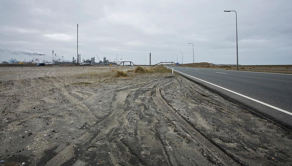 Nederland. Maasvlakte Rotterdam, 2 april 2008.<br /> Maasvlakte.<br /> Foto Martijn Beekman <br /> NIET VOOR TROUW, AD, TELEGRAAF, NRC EN HET PAROOL