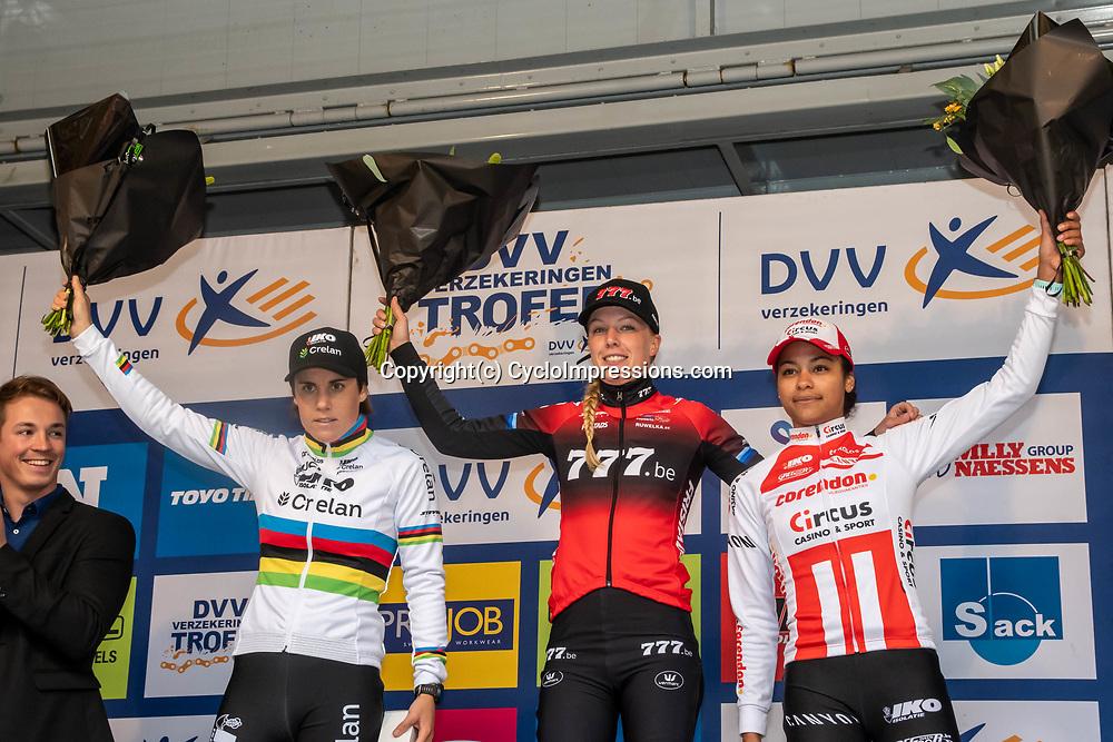 2019-11-17 Cycling: dvv verzekeringen trofee: Flandriencross: Annemarie Worst wint de Flandriencross, Sanne Cant was second and Ceylin del Carmen Alvarado finished third