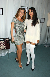Left to right, FRANCESCA VERSACE and LISA MOORISH at Reach 4 Fashion 2005 in aid of the REACH Leukaemia Appeal hosted by designers Sadie Frost and Jemima French of fashion label FrostFrench held at 88 St.James' Street, London SW1 on 8th November 2005.<br />