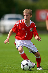 NEWPORT, WALES - Wednesday, July 25, 2018: Morgan Williams during the Welsh Football Trust Cymru Cup 2018 at Dragon Park. (Pic by Paul Greenwood/Propaganda)