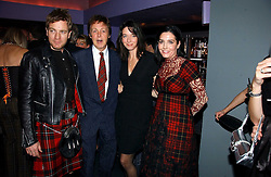 Left to right, EWAN McGREGOR, SIR PAUL McCARTNEY, MARY McCARTNEY and SHARLEEN SPITERI  at a Burns Night dinner in aid of CLIC Sargent and Children's Hospice Association Scotland held at St.Martin's Lane Hotel, St.Martin's Lane, London on 25th January 2007.<br />
