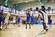 NORTH AUGUSTA, SC. July 10, 2019. Karl Jones 2019 #15 of MeanStreets 17U at Nike Peach Jam in North Augusta, SC. <br /> NOTE TO USER: Mandatory Copyright Notice: Photo by Jon Lopez / Nike