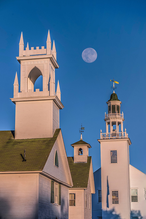 Steeples, church, school, town hall, First town named after George Washington, Washington, NH