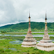 Pagoda by Inle Lake shore