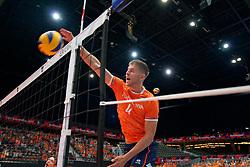 14-09-2019 NED: EC Volleyball 2019 Netherlands - Ukraine, Rotterdam<br /> First round group D - Netherlands win 3-0 / Thijs Ter Horst #4 of Netherlands