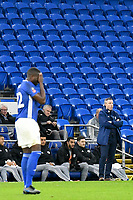 Football - 2019 / 2020 Emirates FA Cup - Third Round: Cardiff City vs. Carlisle United<br /> <br /> Cardiff City manager Neil Harris on the touchline arms folded empty seats in background, at Cardiff City Stadium.<br /> <br /> COLORSPORT/WINSTON BYNORTH