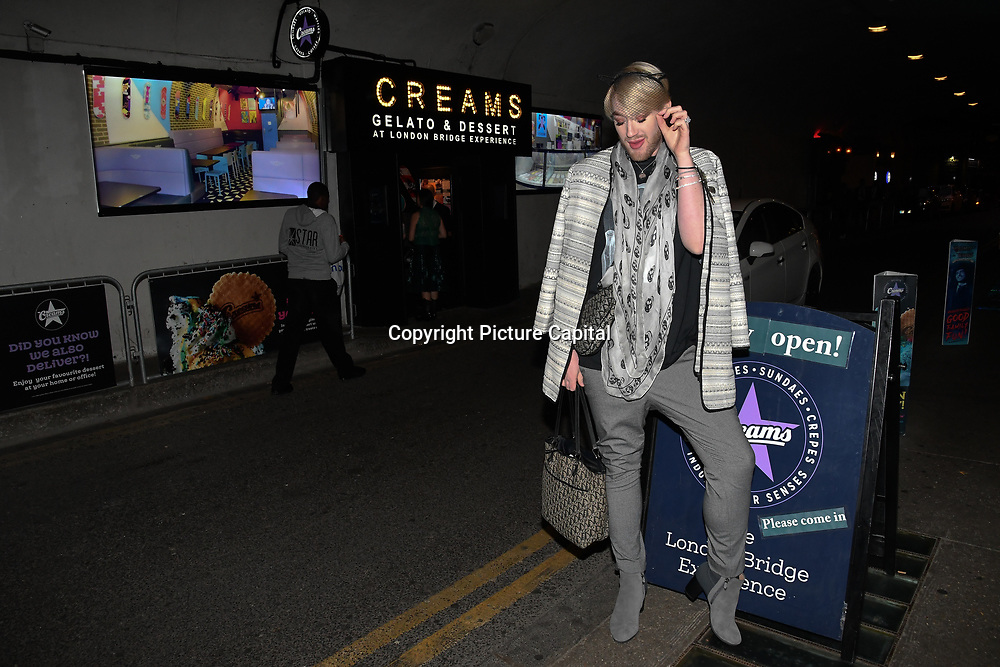 Lewis-Duncan Weedon attend Press night an halloween experience at  London Tombs at The London Bridge Experience, UK. 18 October 2018.