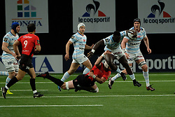 April 8, 2018 - Nanterre, Hauts de Seine, France - Racing 92 Lock YANNICK NYANGA in action during the French rugby championship Top 14 match between Racing 92 and RC Toulon at U Arena Stadium in Nanterre - France..Racing 92 Won  17-13. (Credit Image: © Pierre Stevenin via ZUMA Wire)