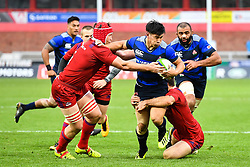 Ryoto Nakamura of Japan is tackled by Dmitry Gerasimov of Russia <br /> <br /> Photographer Craig Thomas<br /> <br /> Japan v Russia<br /> <br /> World Copyright ©  2018 Replay images. All rights reserved. 15 Foundry Road, Risca, Newport, NP11 6AL - Tel: +44 (0) 7557115724 - craig@replayimages.co.uk - www.replayimages.co.uk