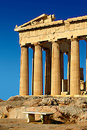 The Parthenon Temple, the Acropolis of Athens in Greece. .<br /> <br /> If you prefer to buy from our ALAMY PHOTO LIBRARY  Collection visit : https://www.alamy.com/portfolio/paul-williams-funkystock/acropolis-athens.html<br /> <br /> Visit our ANCIENT WORLD PHOTO COLLECTIONS for more photos to download or buy as wall art prints https://funkystock.photoshelter.com/gallery-collection/Ancient-World-Art-Antiquities-Historic-Sites-Pictures-Images-of/C00006u26yqSkDOM