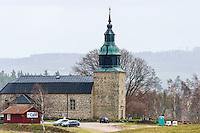 Sweden, Lake Hornborga. Bjurums kyrka.