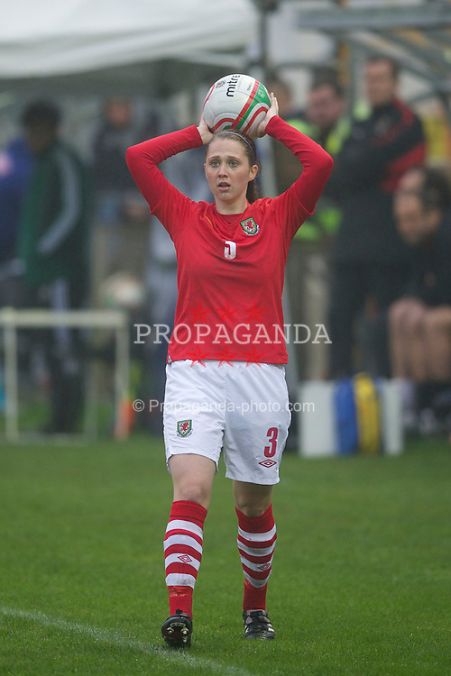 LLANELLI, WALES - Saturday, April 2, 2011: Wales' Jasmin Dutton in action against Turkey during the UEFA European Women's Under-19 Championship Second Qualifying Round (Group 3) match at Richmond Park. (Photo by David Rawcliffe/Propaganda)