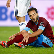 Trabzonspor's Olcan Adin during their Turkish Superleague soccer derby match Fenerbahce between Trabzonspor at the Sukru Saracaoglu stadium in Istanbul Turkey on Monday 24 September 2012. Photo by TURKPIX