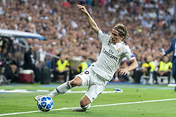 September 19, 2018 - Madrid, Spain - Real Madrid Luka Modric during UEFA Champions League match between Real Madrid and A.S.Roma at Santiago Bernabeu Stadium in Madrid, Spain. September 19, 2018. (Credit Image: © Coolmedia/NurPhoto/ZUMA Press)