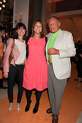 Left to right, HARRIET GUGGENHEIM, RUTH ROGERS and her husband LORD ROGERS at the annual Veuve Clicquot Business Woman of the Year Award this year celebrating it's 40th year, held at Claridge's, Brook Street, London on 18th April 2012.