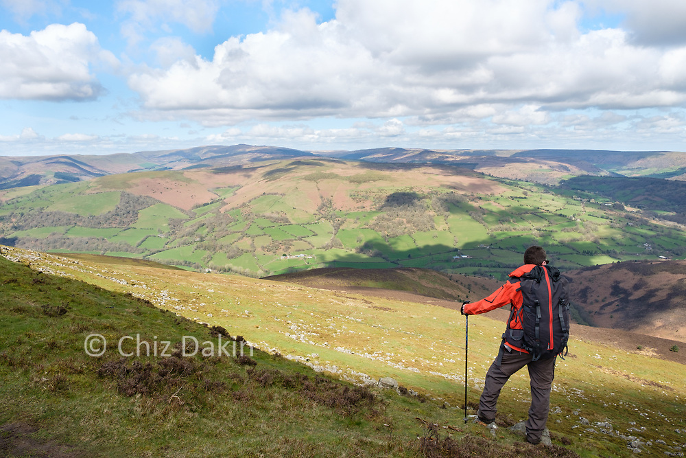 Looking north towards the Black Mountains