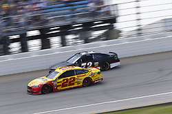 July 1, 2018 - Joliet, Illinois, United States of America - Joey Logano (22) battles for position during the Overton's 400 at Chicagoland Speedway in Joliet, Illinois  (Credit Image: © Justin R. Noe Asp Inc/ASP via ZUMA Wire)
