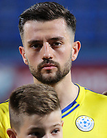 PODGORICA, MONTENEGRO - JUNE 07: Besar Halimi of Kosovo before the 2020 UEFA European Championships group A qualifying match between Montenegro and Kosovo at Podgorica City Stadium on June 7, 2019 in Podgorica, Montenegro MB Media