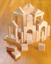 child's wood building blocks