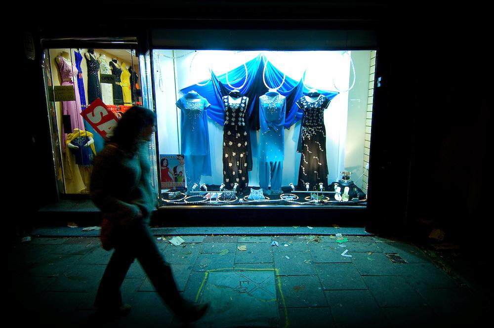 Sari shop along The Golden Mile, Melton Road, Leicester, England, United Kingdom.