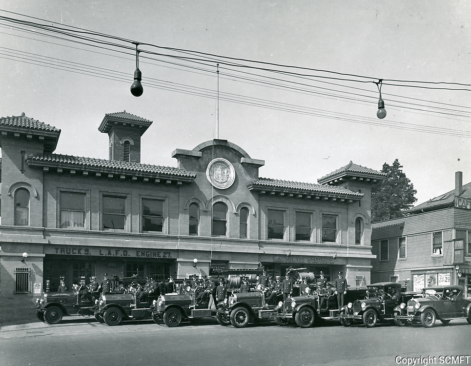 1928 Early fire station on Cahuenga Blvd. in Hollywood