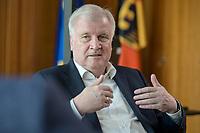 01 JUL 2019, BERLIN/GERMANY:<br /> Horst Seehofer, CSU, Bundesinnenminister, waehrend einem Interview, in seinem Buero, Bundesministerium des Inneren<br /> IMAGE: 20190701-01-043<br /> KEYWORDS: Büro
